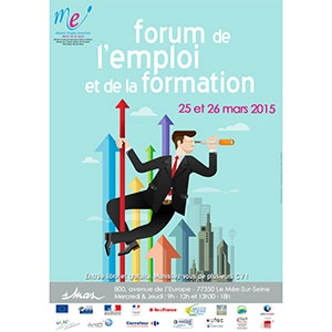 Rebondir Formation participe au Forum de l'Emploi et de la Formation le 25 et 26 mars au Mée sur Seine