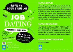Rebondir Formation participe au Job Dating du 8 avril 2015 au Millénaire